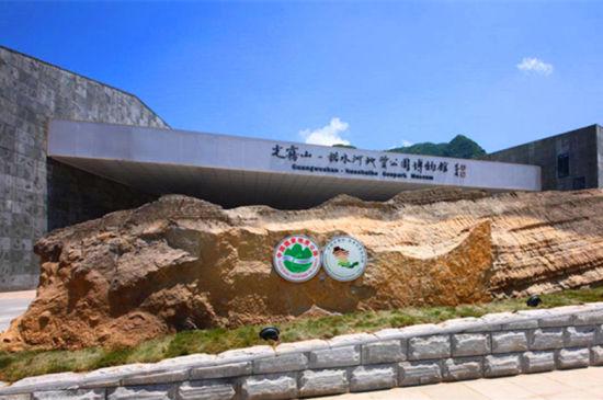 图为光雾山--诺水河地质公园博物馆。巴中文旅供